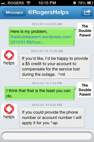 Rogers outage follow-up.